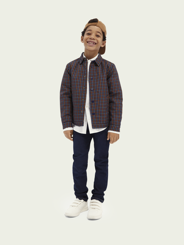 Kinder Anzugshirt im Slim Fit aus Baumwolle