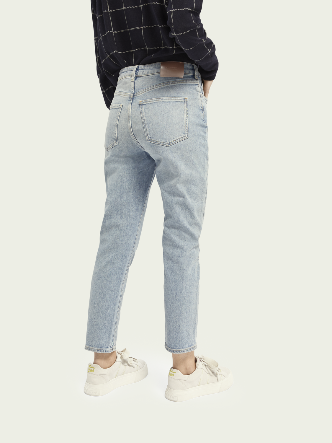 Dames High Five high-rise jeans met smalle pijpen – Cool Water