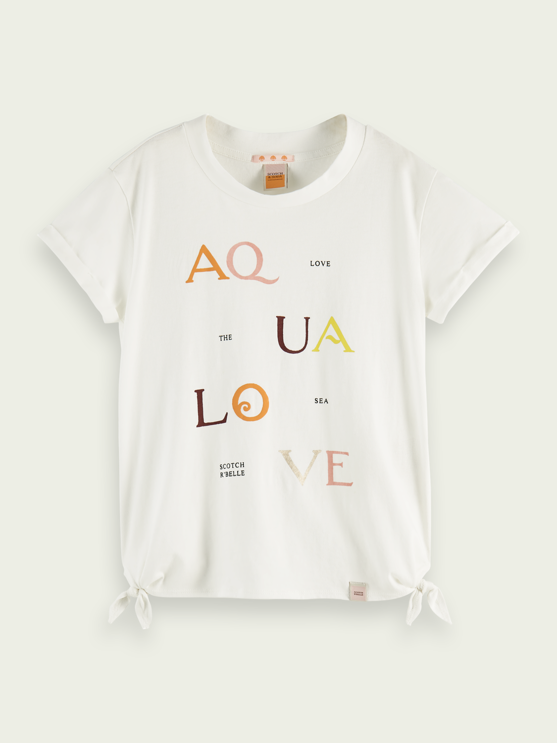 Kids Organic cotton T-shirt with knot detail