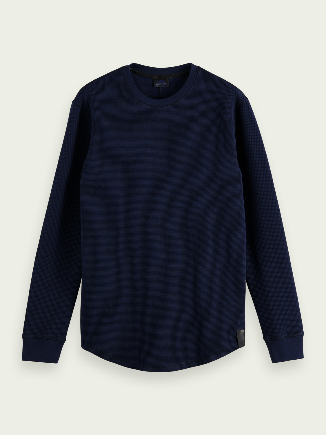 Men Waffle-knitted top