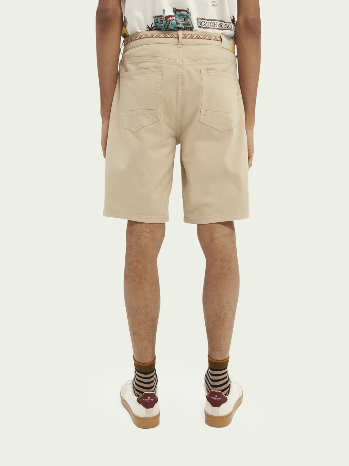 "Herren ""Garment-Dye""-Shorts aus Twill im 5-Pocket-Design"