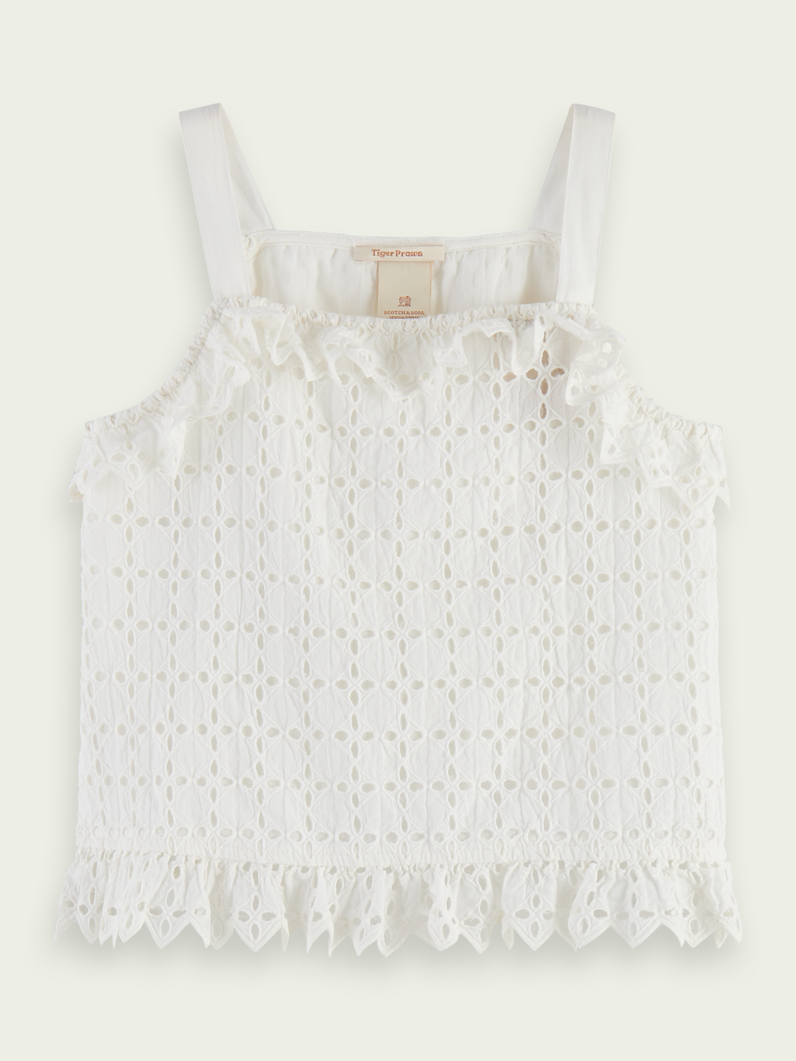 Kids Slitted brodery anglaise tank top