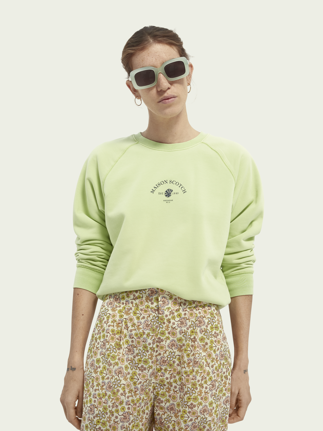 Women Graphic cotton-blend sweater