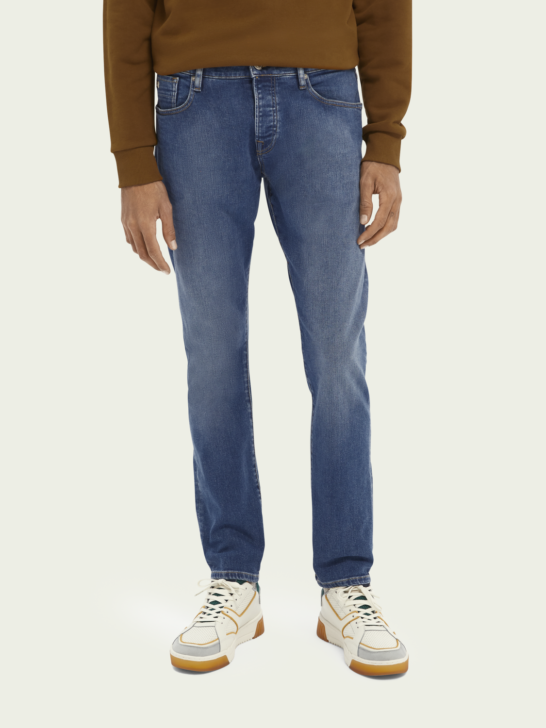 Herren Ralston Regular Slim Fit Jeans – Nouveau Blue