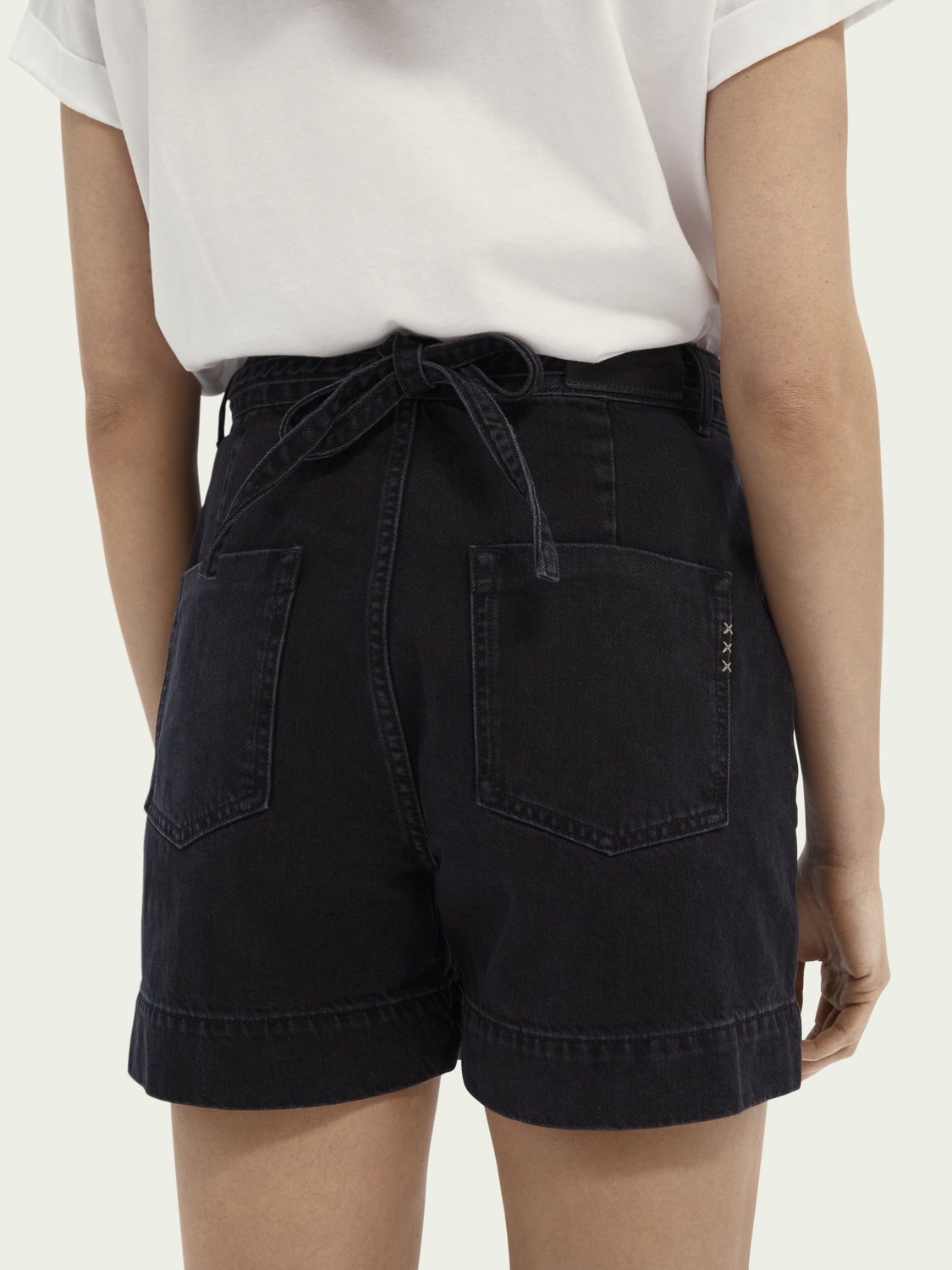 Dames Boyfriend denim short – Black Butter