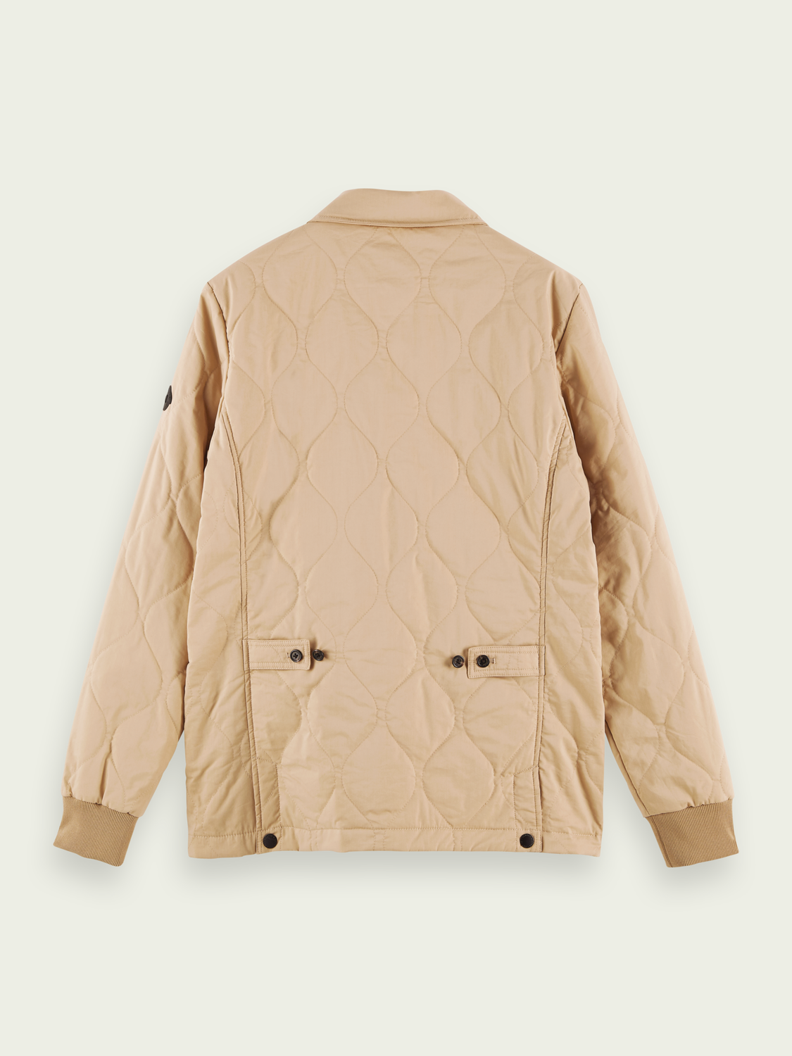 Men Quilted cotton-blend jacket