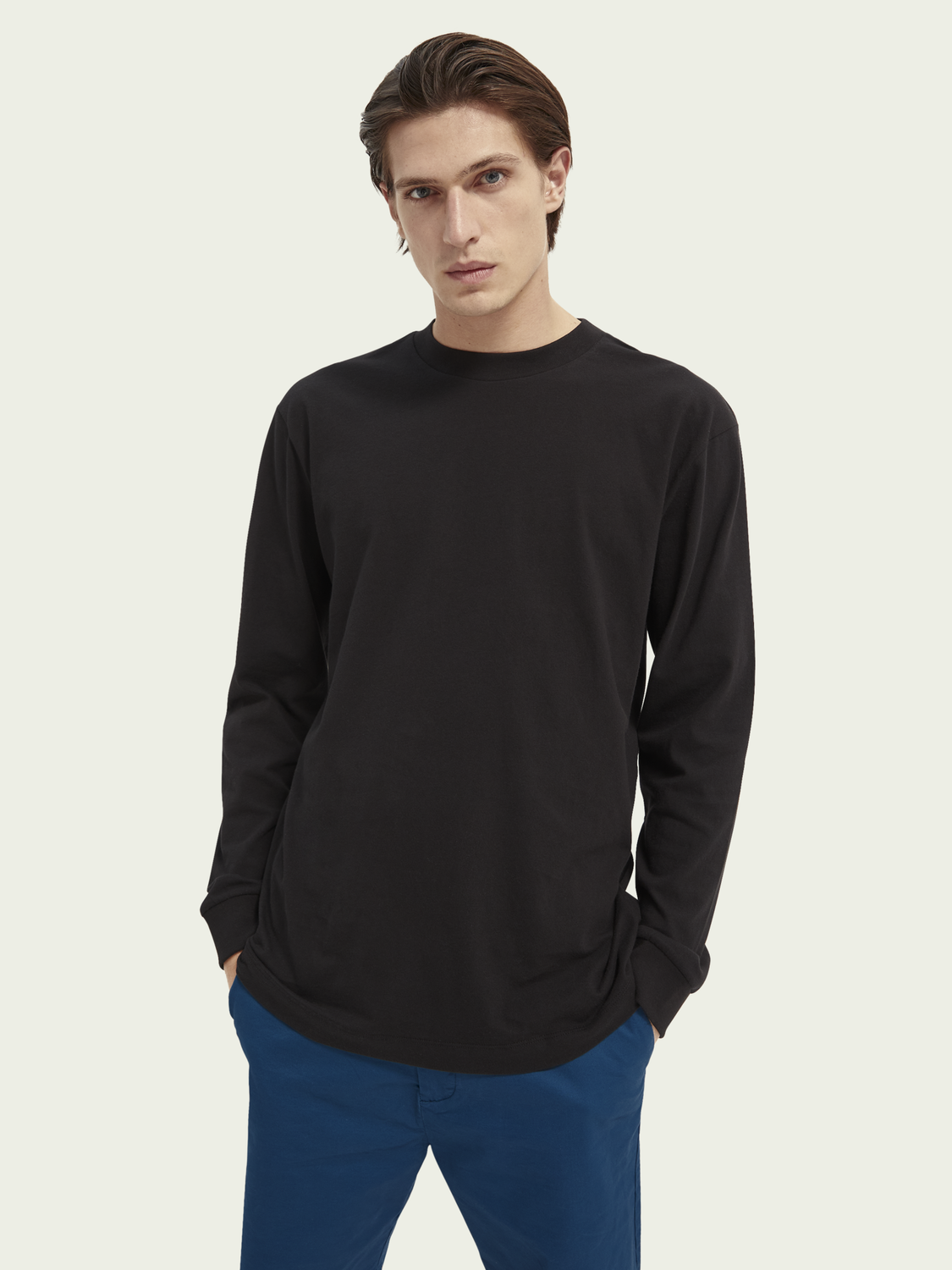 Men Graphic organic cotton long-sleeved T-shirt