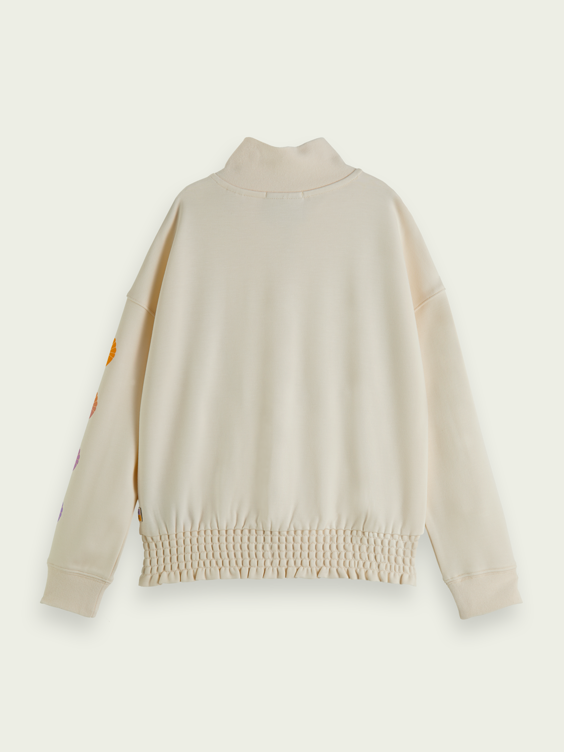 Kids Zip up turtleneck boxy fit sweater