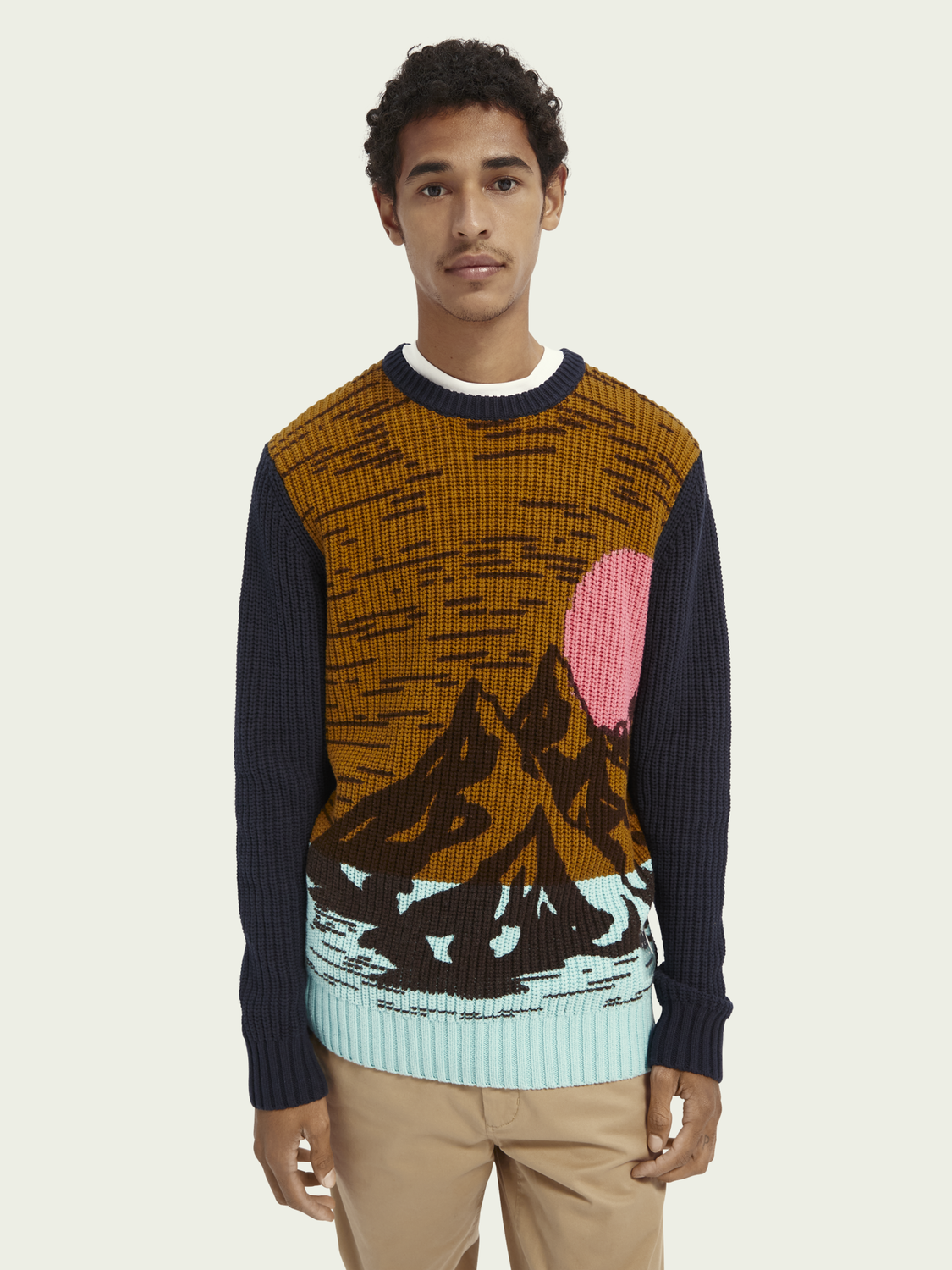 Men Cotton-blend artwork jumper