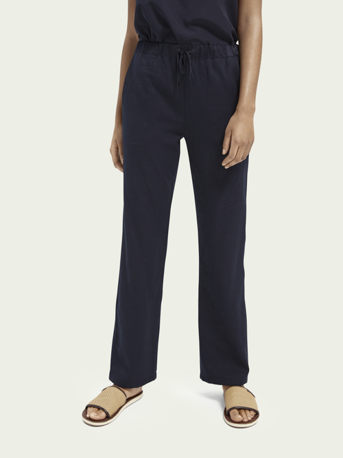 Scotch & Soda WIDE-LEG JACQUARD TROUSERS