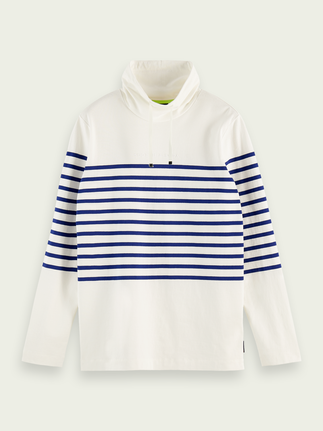 Men Funnel neck Breton T-shirt
