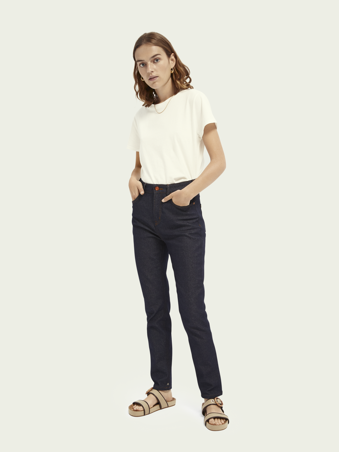 Women High Five high-rise slim-leg jeans - Who Dares Wins