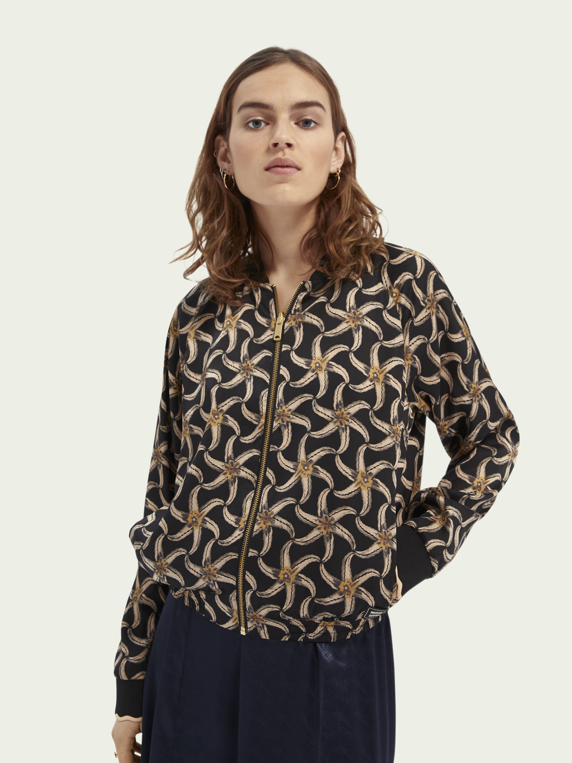 Women Printed reversible bomber