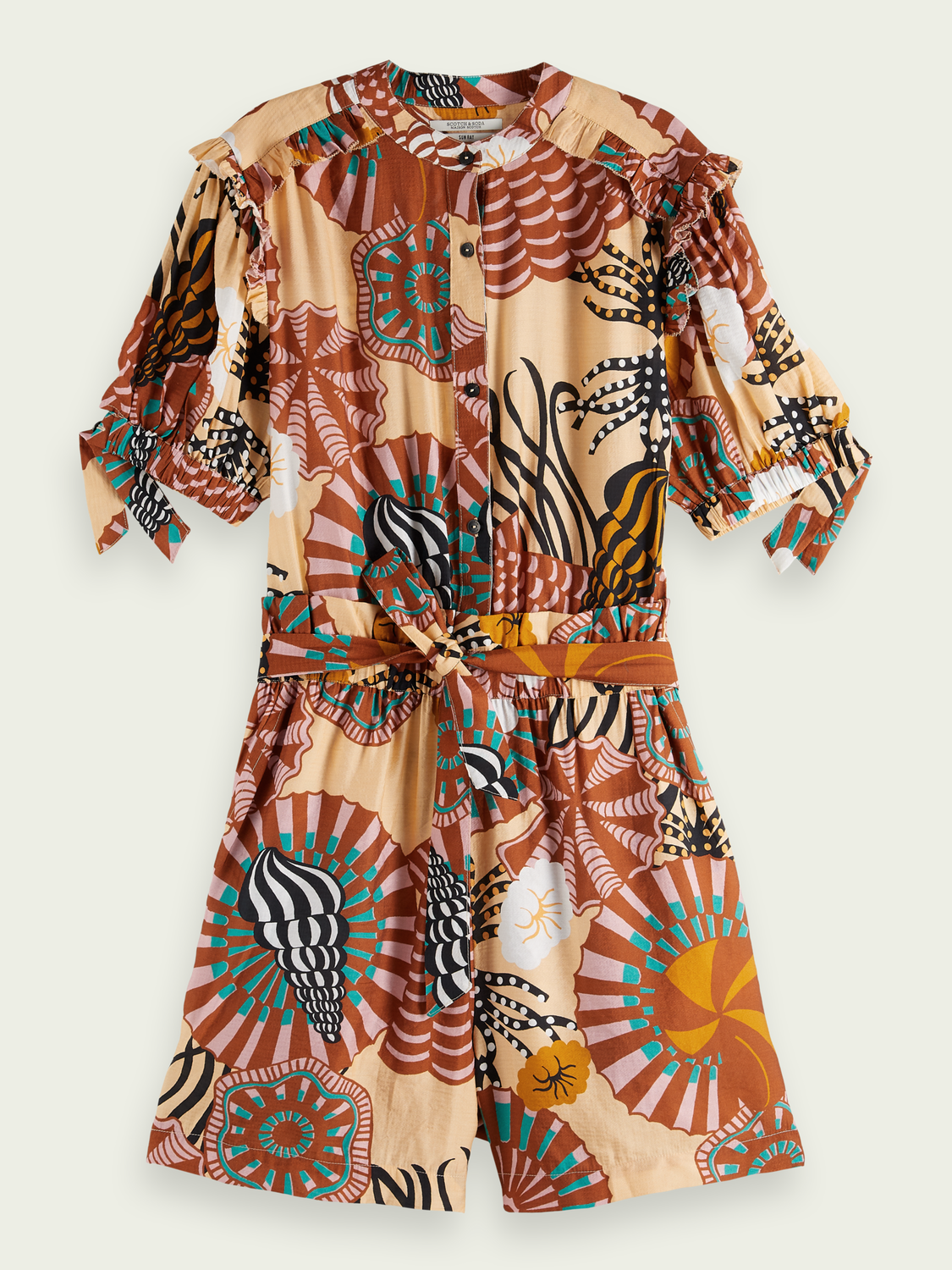 Women Short printed jumpsuit