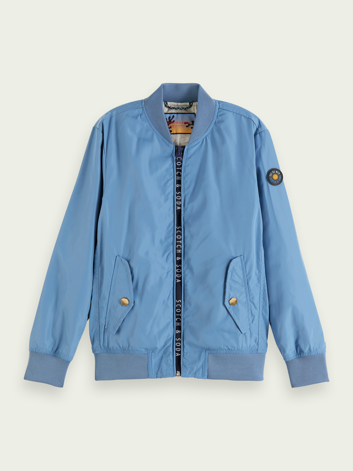 Kids Lightweight recycled polyester bomber jacket