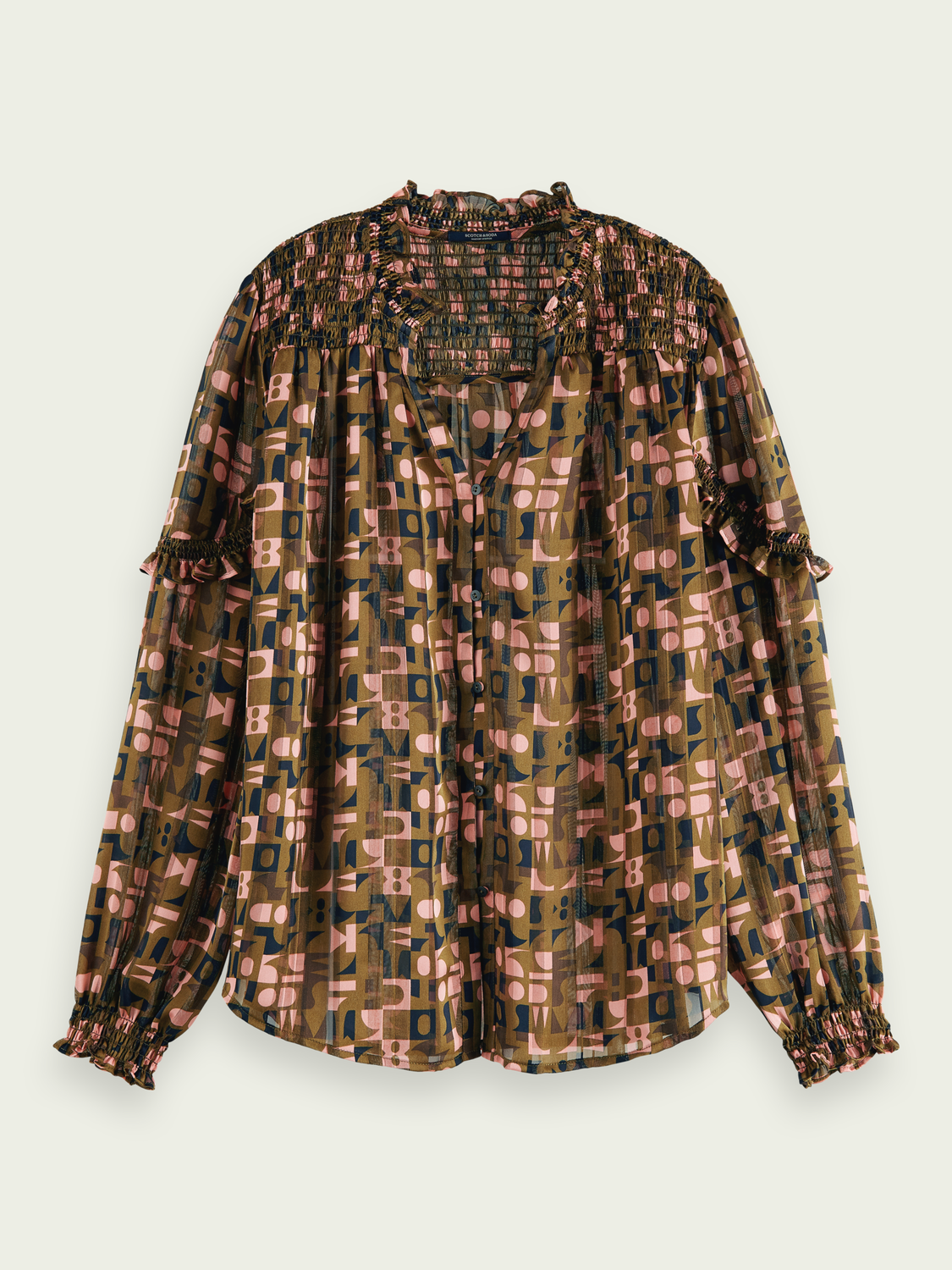 Women Sheer print shirt