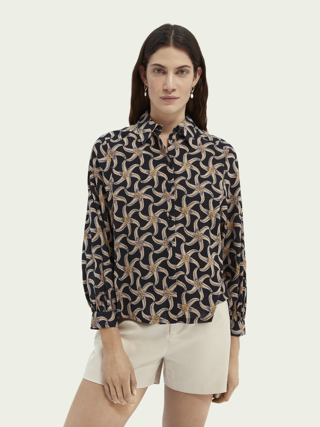 Women Printed organic cotton-blend shirt