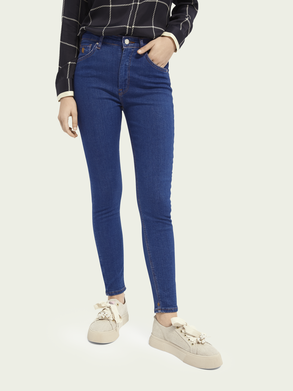 Damen Haut High-Rise Skinny Jeans – Tropic Night