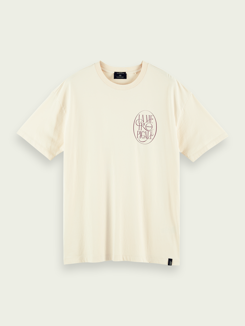 Men's T-shirt in organic cotton with print