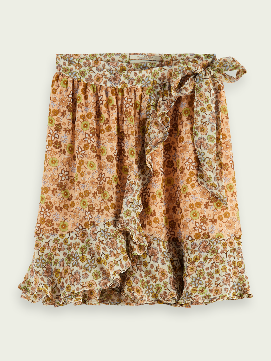 Women Ruffled wrap skirt