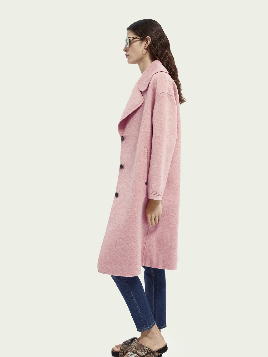 Women Wool blend unlined coat