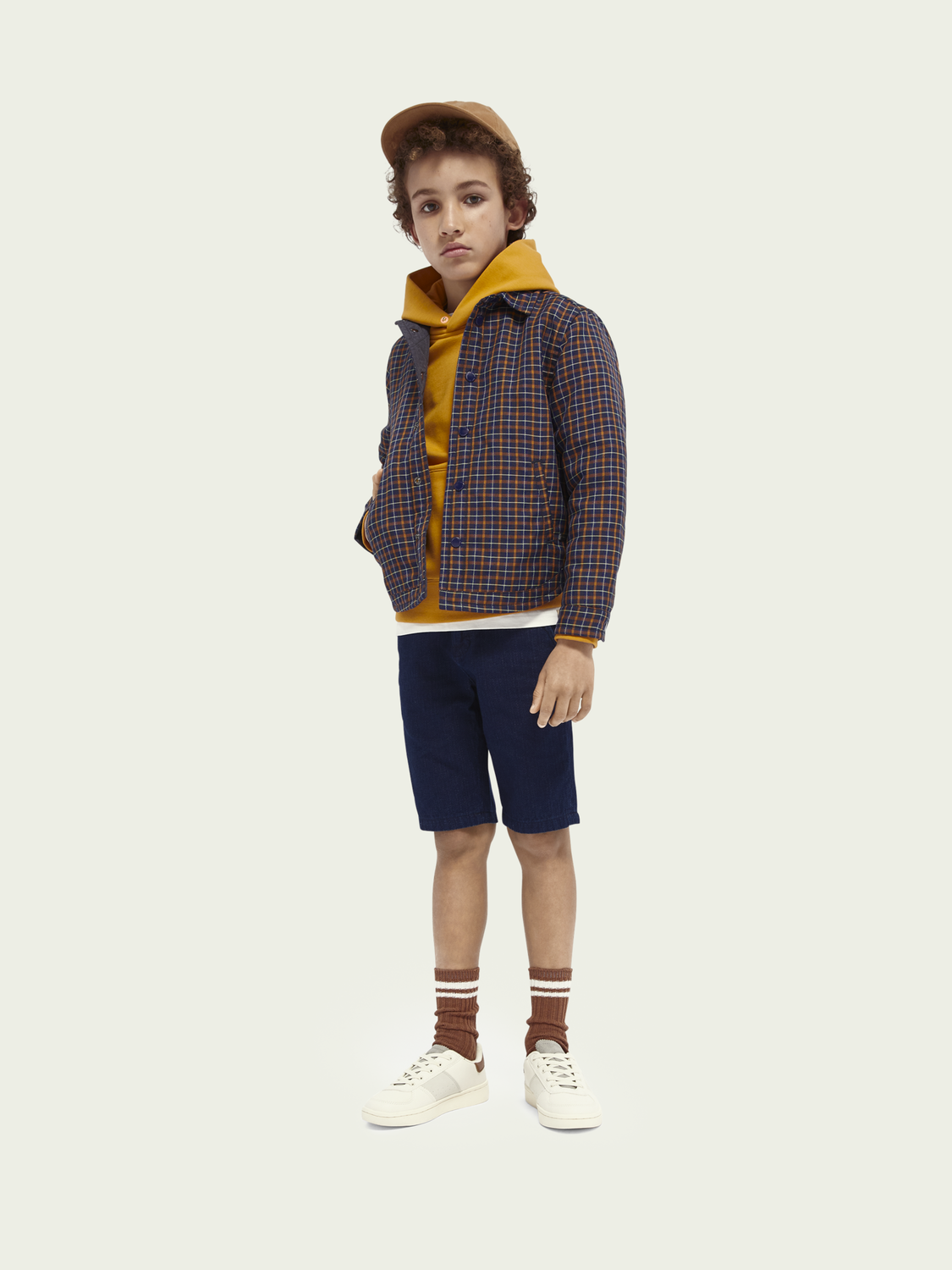 Kids Reversible quilted shirt jacket