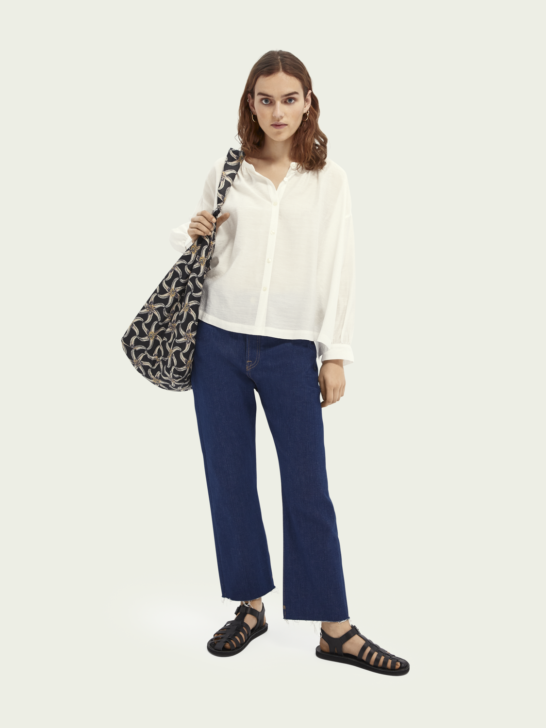Damen Button-down-Shirt aus TENCEL™-ECOVERO™-Mischung