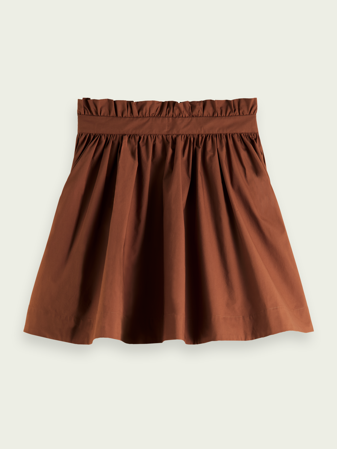 Women Voluminous organic cotton mini skirt