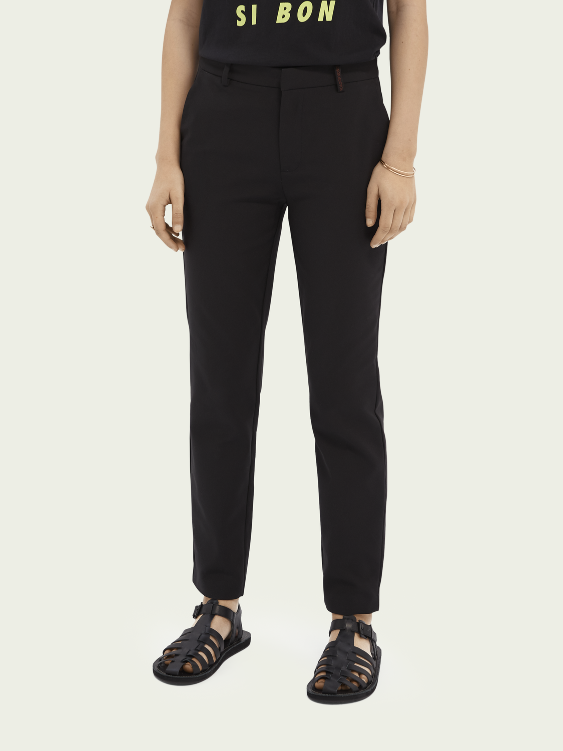 Women Lowry slim-fit mid-rise cotton-blend trousers