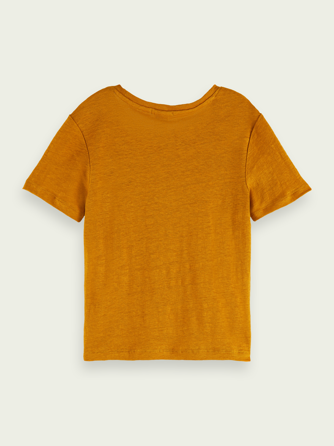 Kids Short-sleeved linen-blend T-shirt