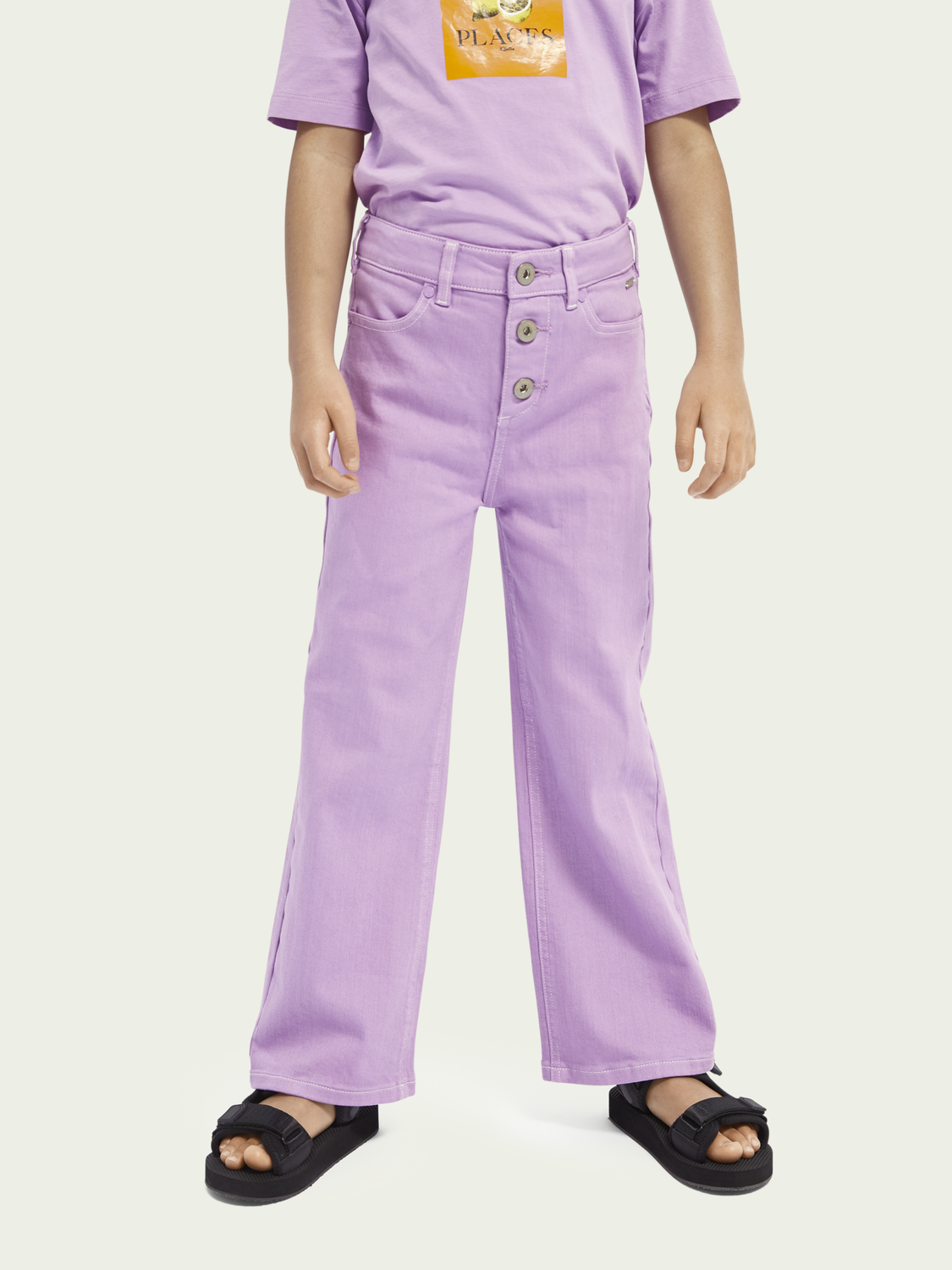 Kids Wide leg organic cotton trouser