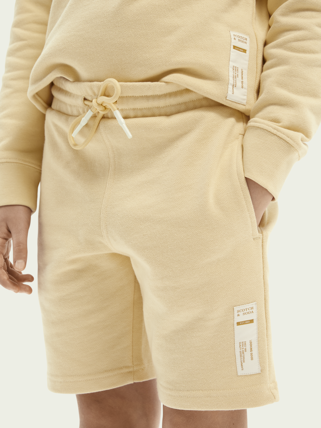 Kids Unisex organic cotton sweat shorts