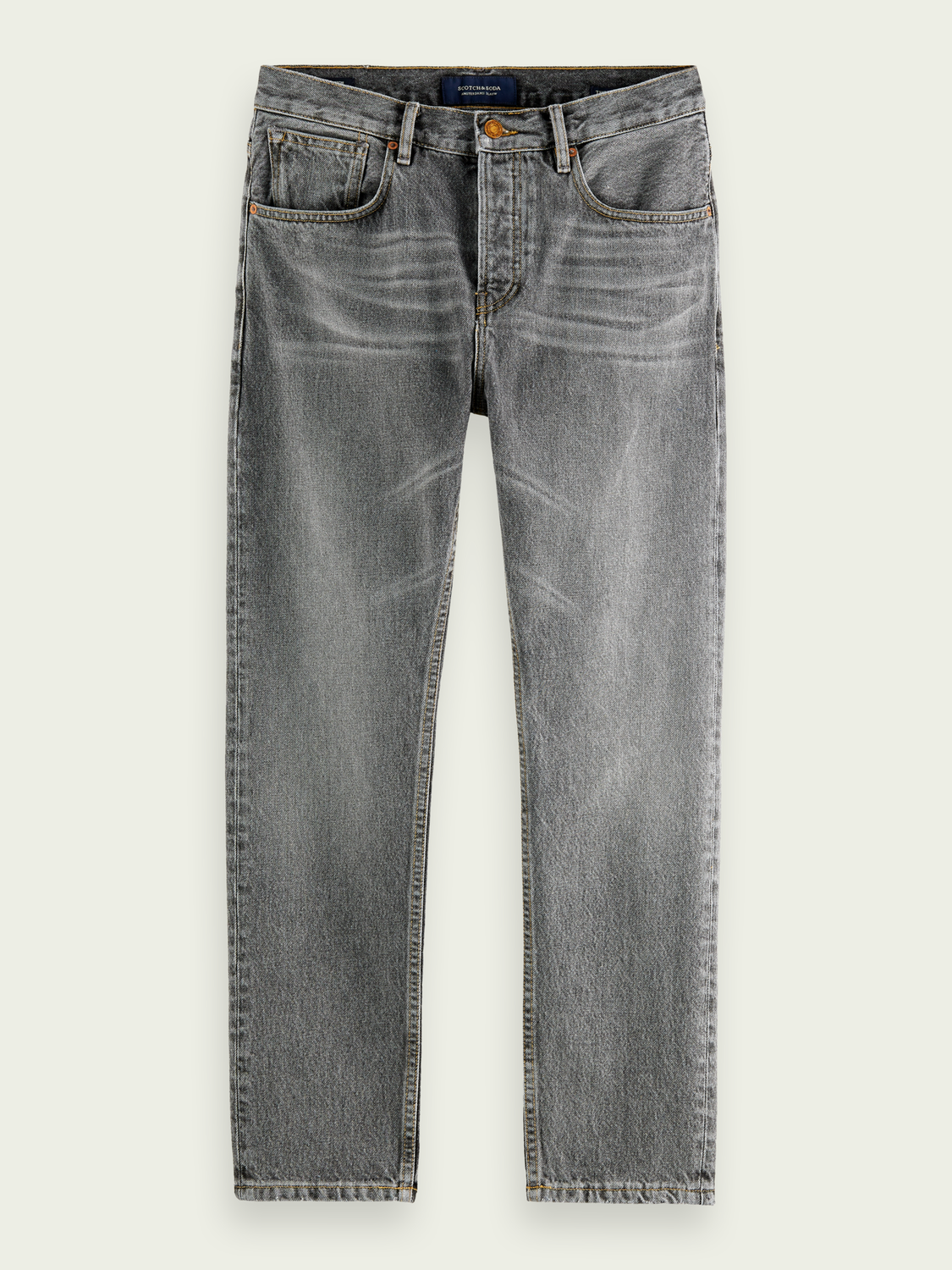Men The Norm organic cotton high-rise jeans - Grey Smoke