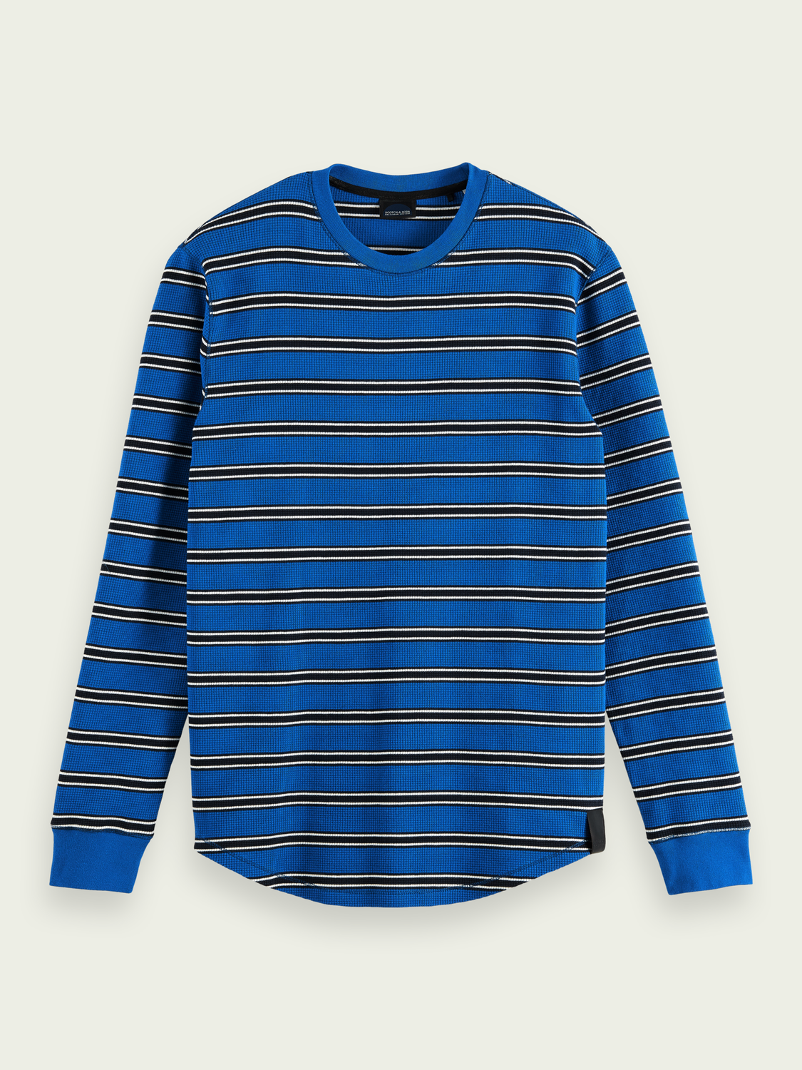 Men Waffle-knitted organic cotton top