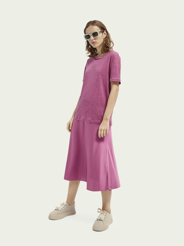 Mujer Falda relajada de corte medio