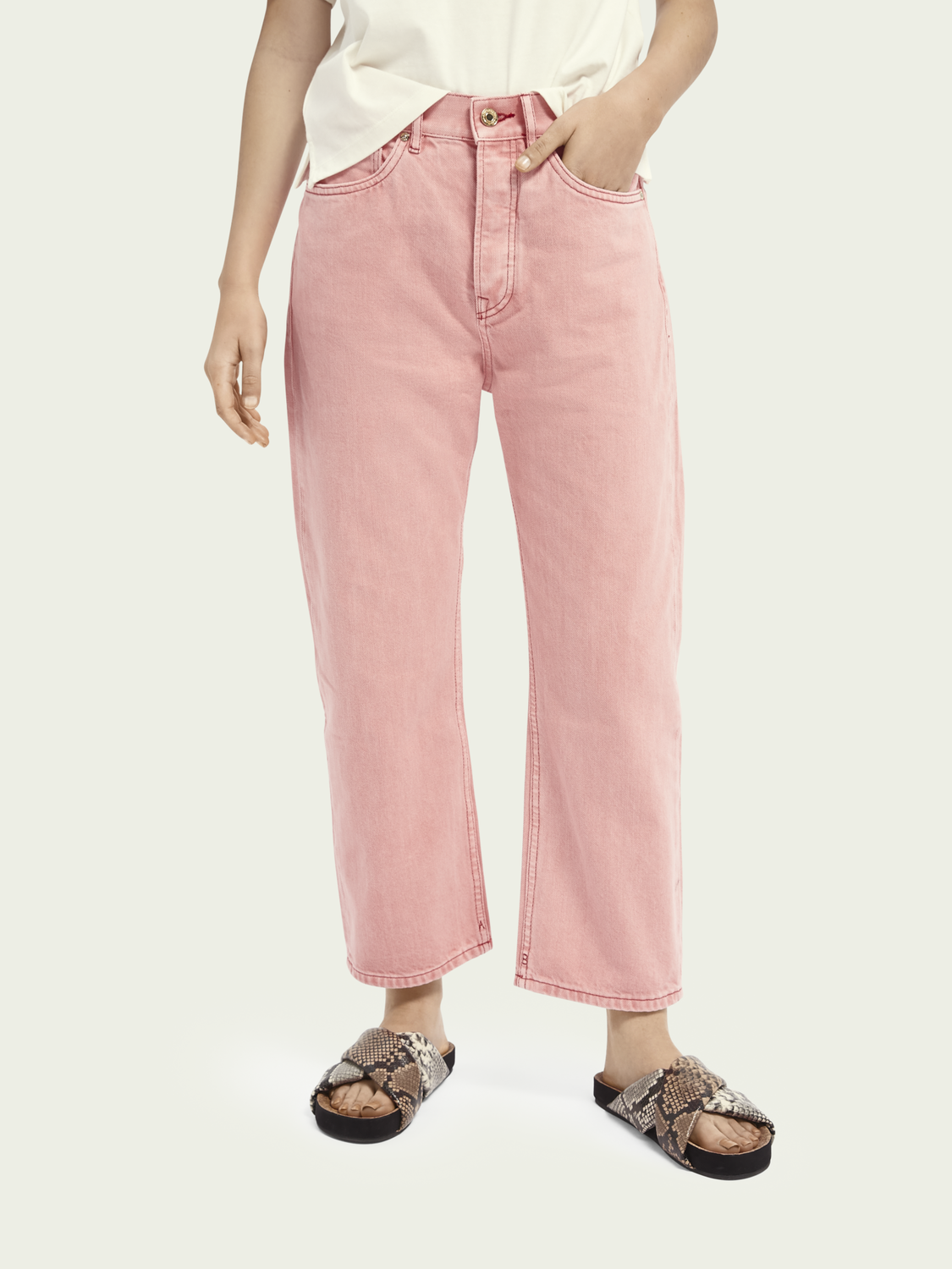 Dames Extra boyfriend jeans – Magic Pink