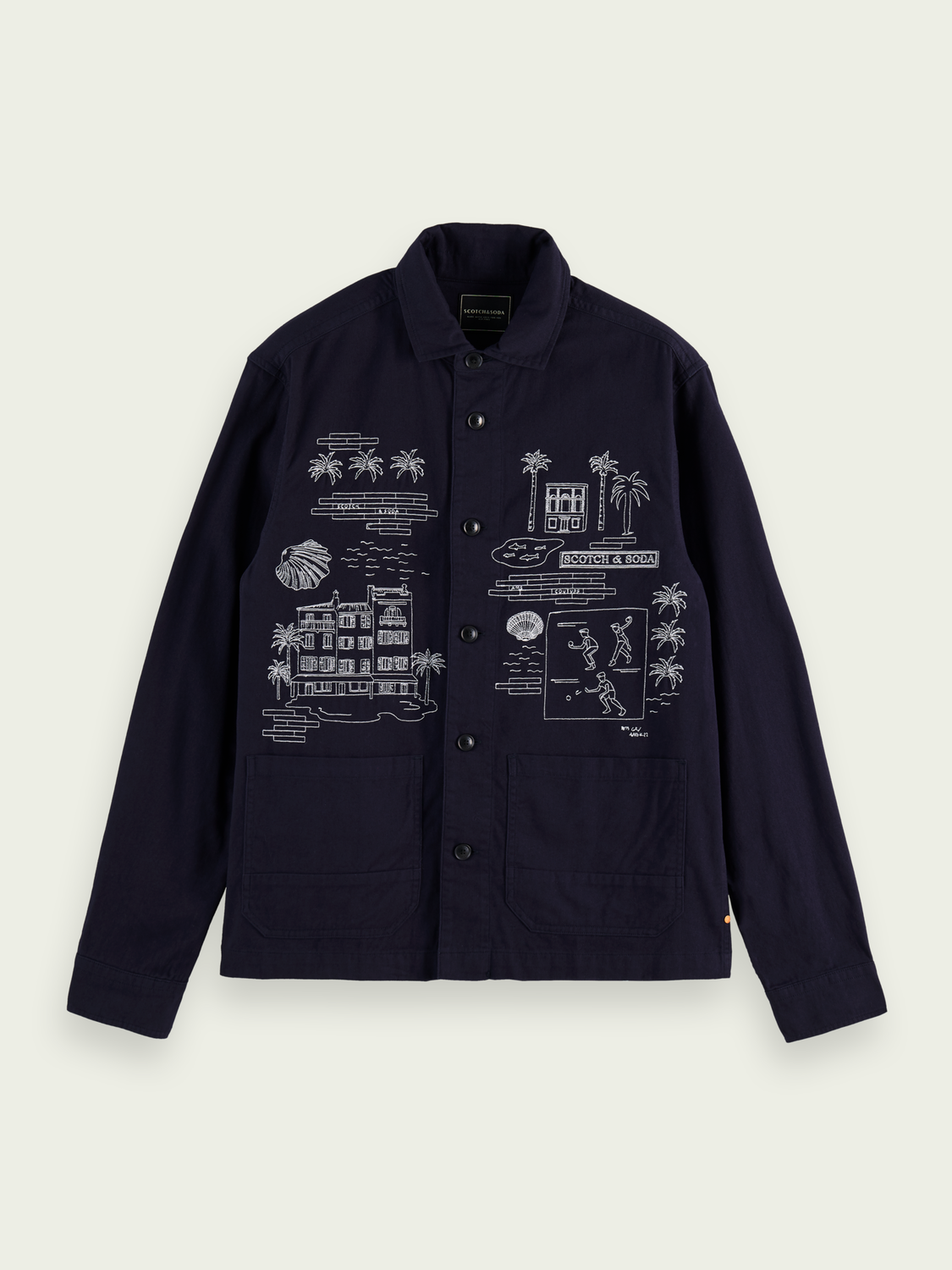 Men Embroidered cotton shirt