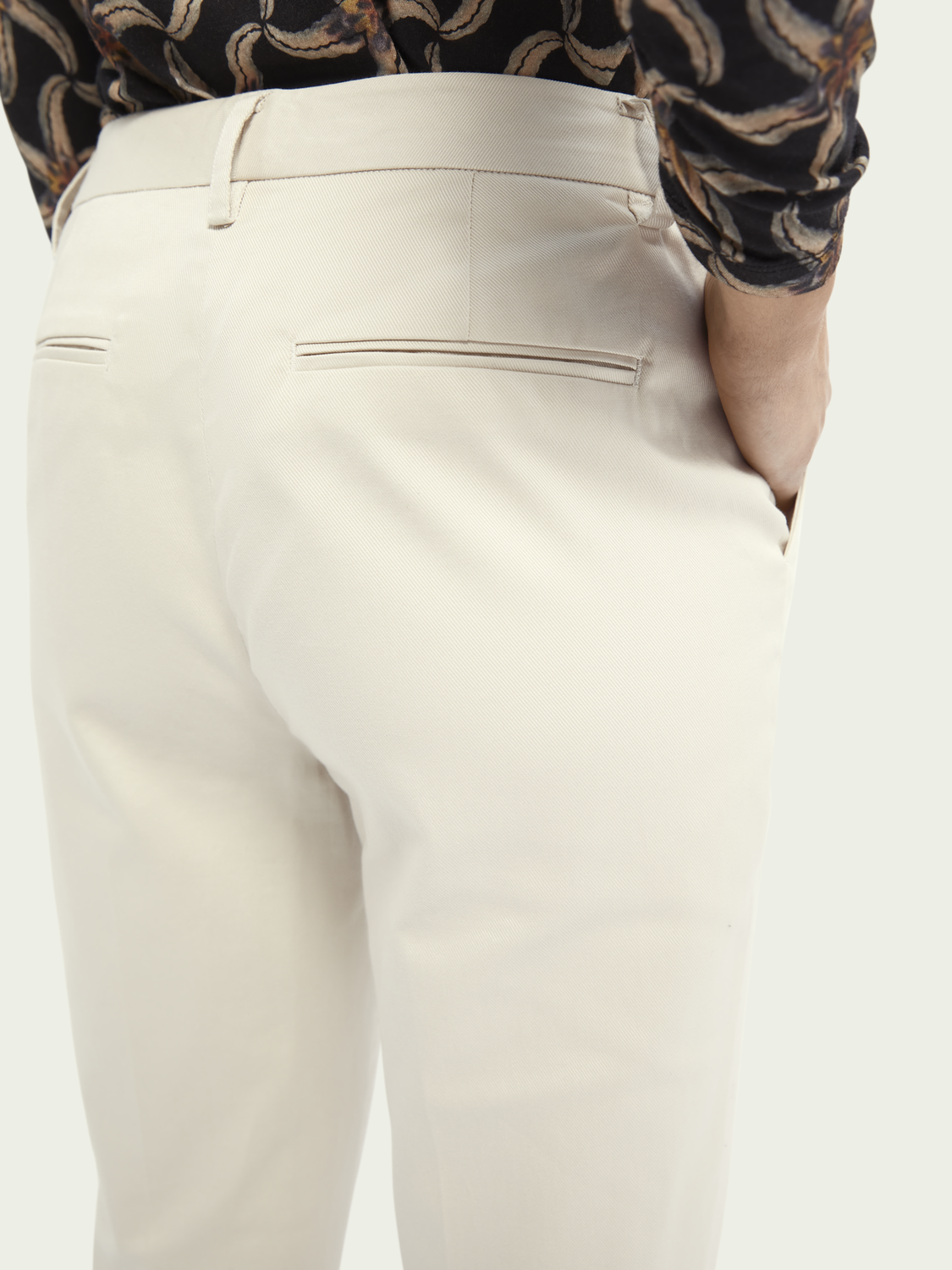 Damen Bell – Slim Fit Chino aus strukturiertem Twill