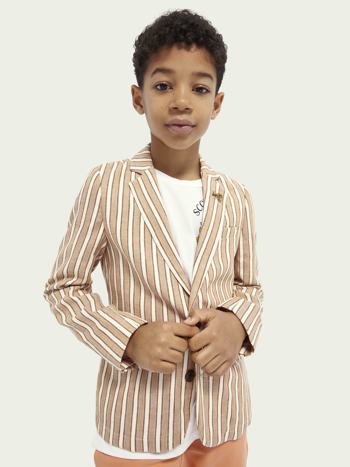 Kids Cotton-linen blend blazer