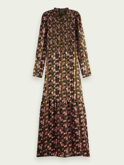 Scotch & Soda SHEER PRINT MAXI DRESS