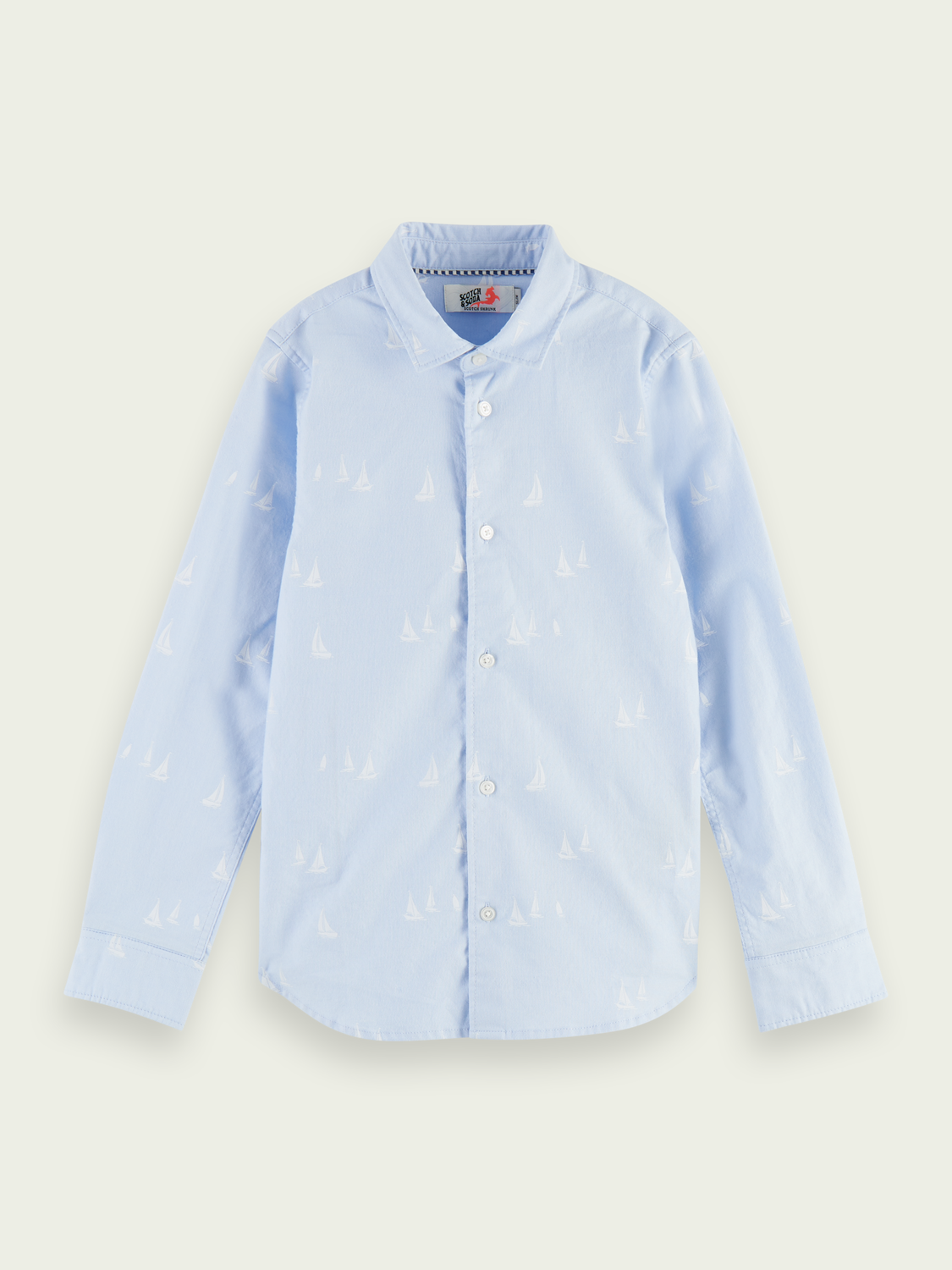 Kids Printed slim-fit Oxford shirt