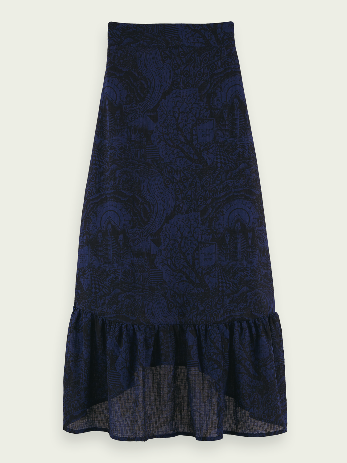 Women Patterned high-low maxi skirt