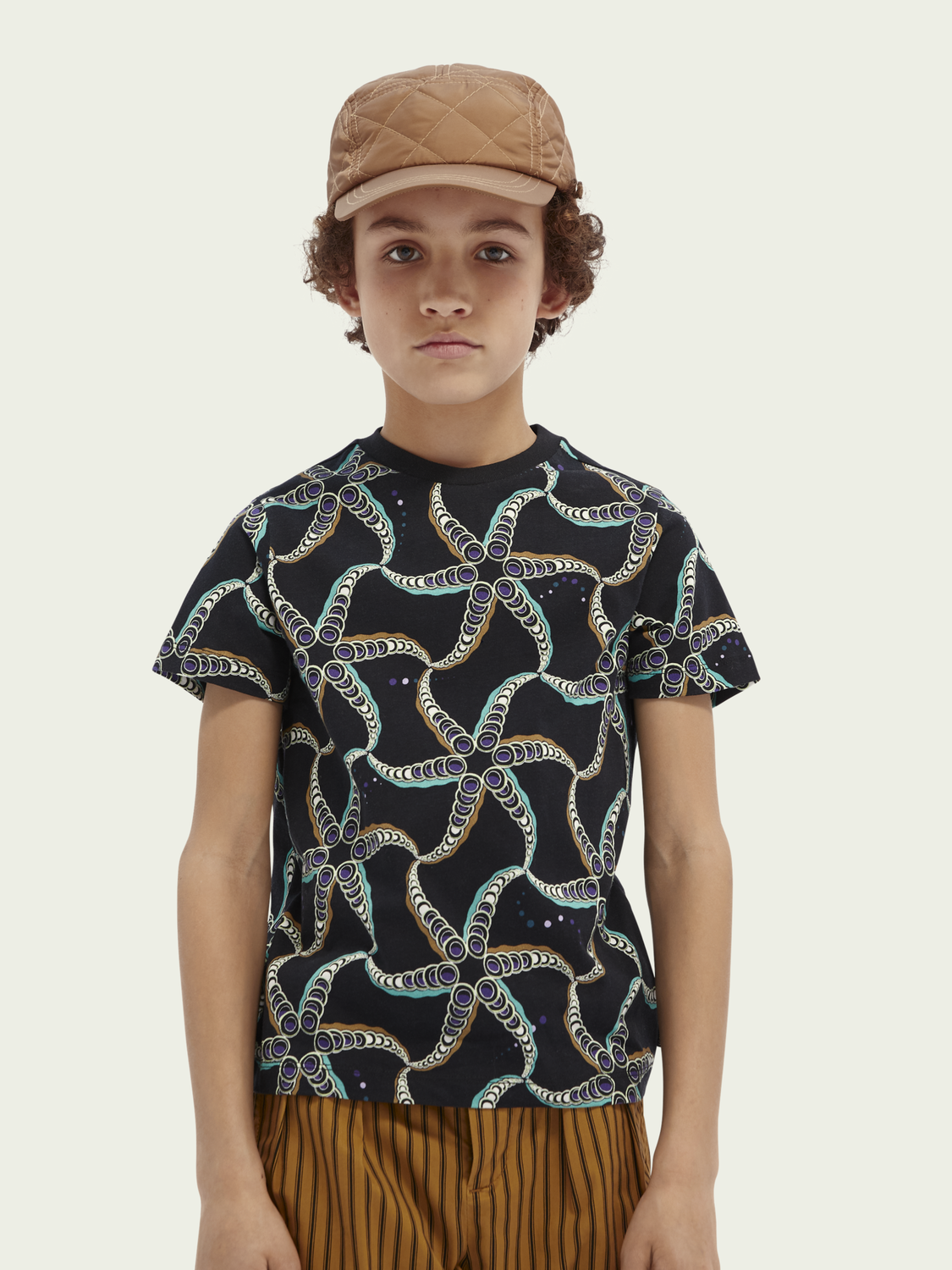 Kids Starfish-print cotton T-shirt