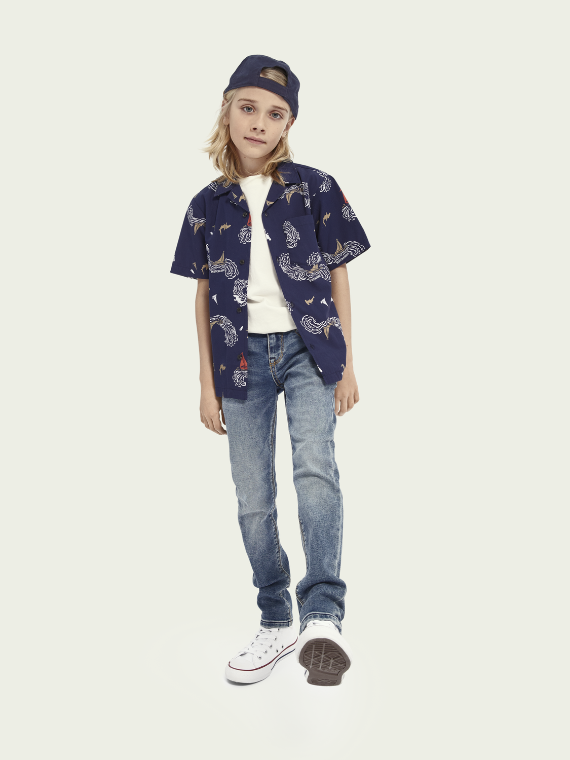 Kids Tigger super-skinny mid-rise jeans - Weathered Blue Light
