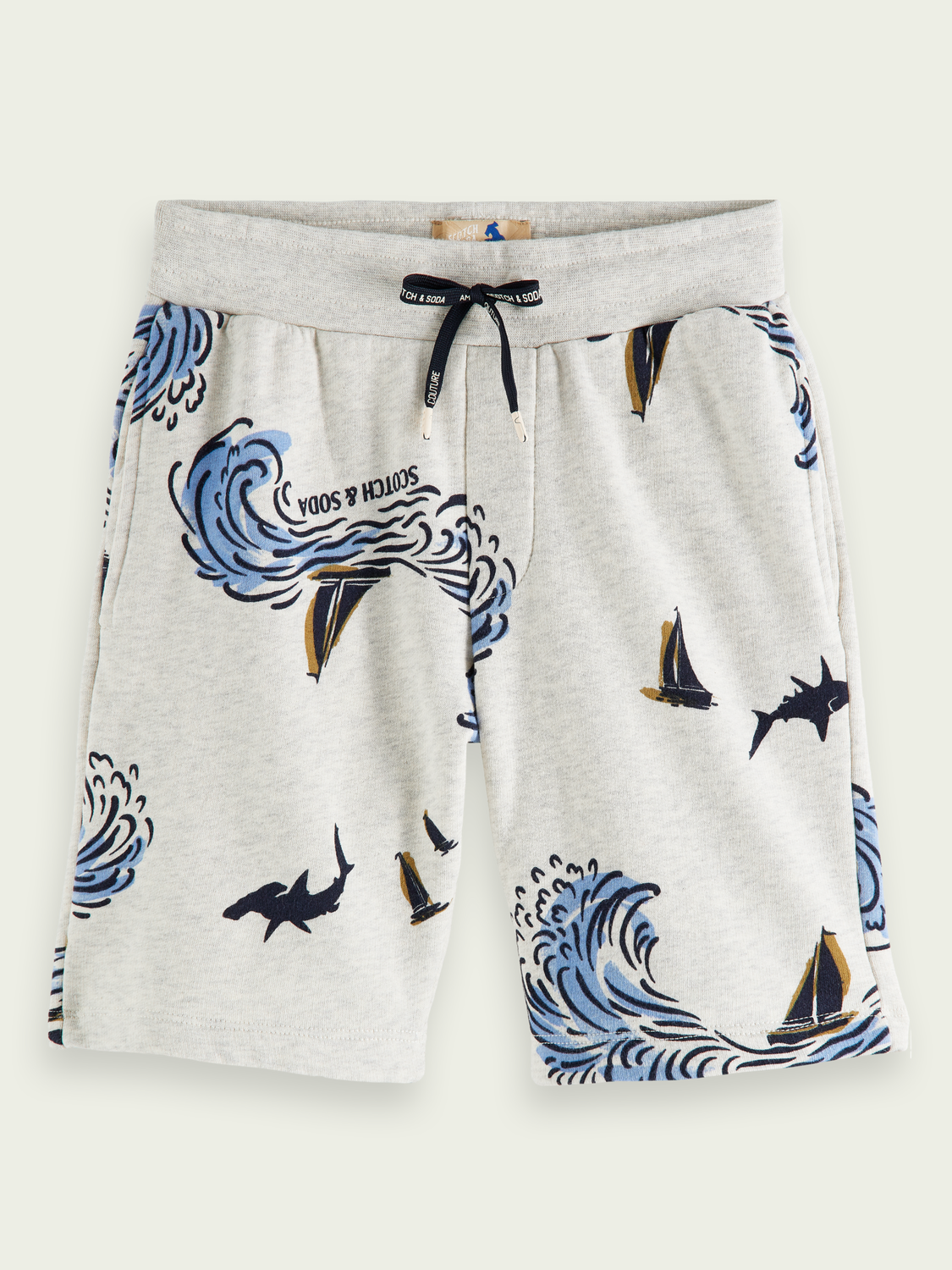 Kids Printed organic cotton sweat shorts
