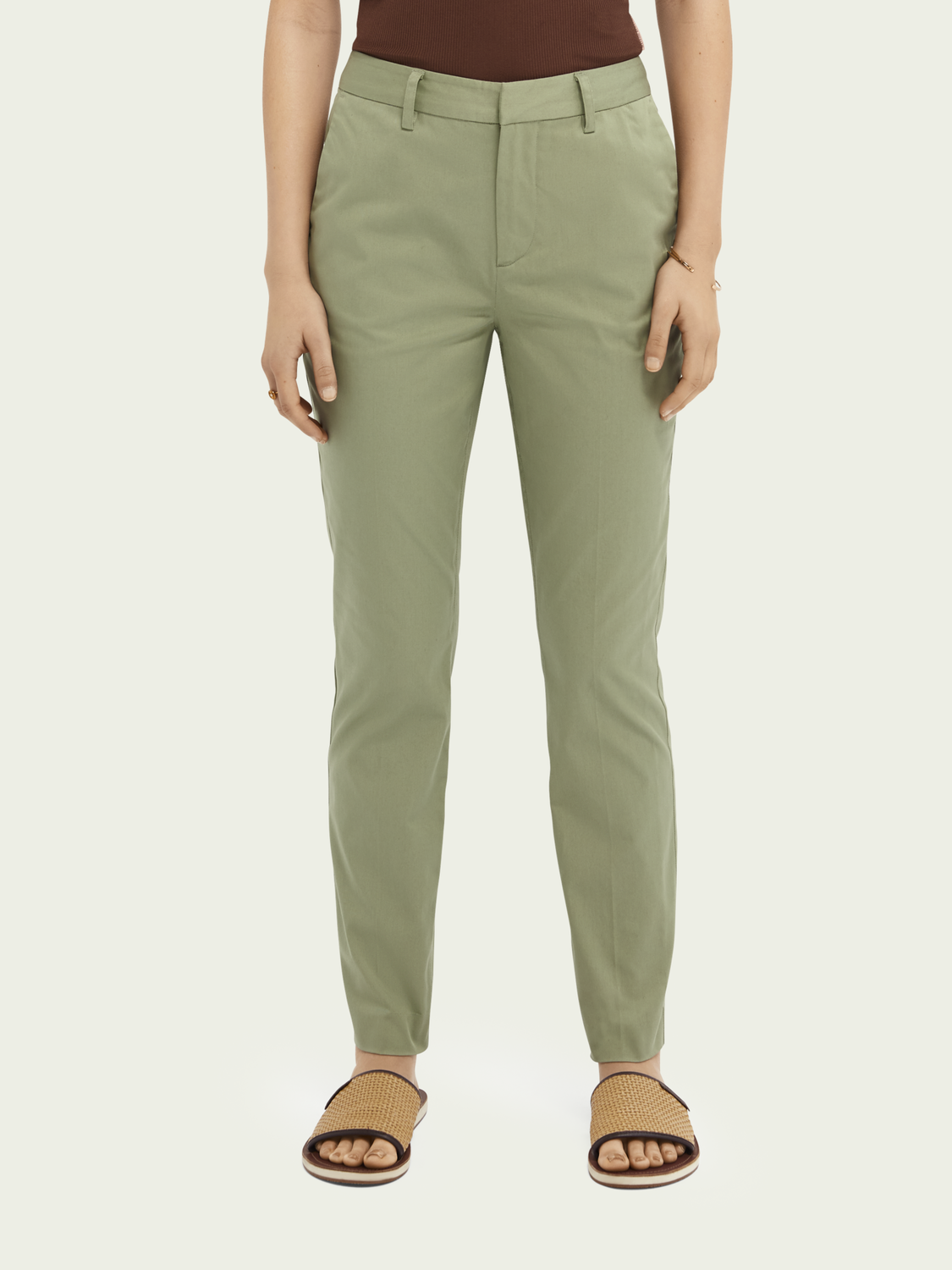 Women Bell slim-fit organic cotton chino