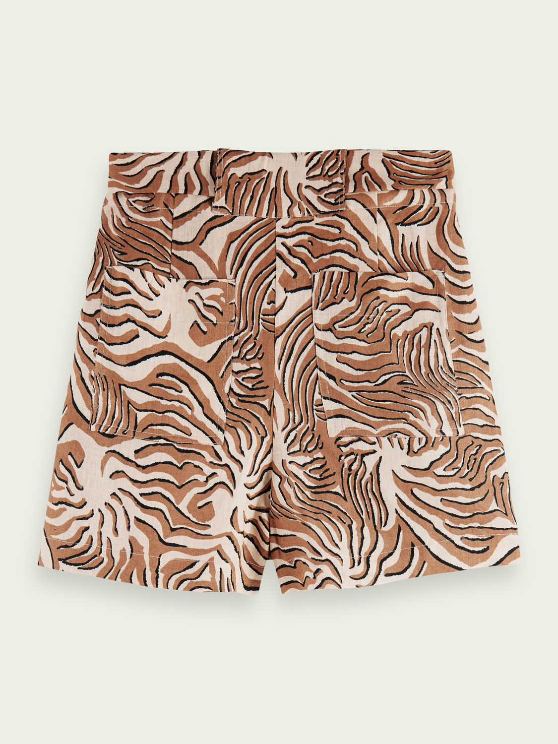 Women Printed linen shorts