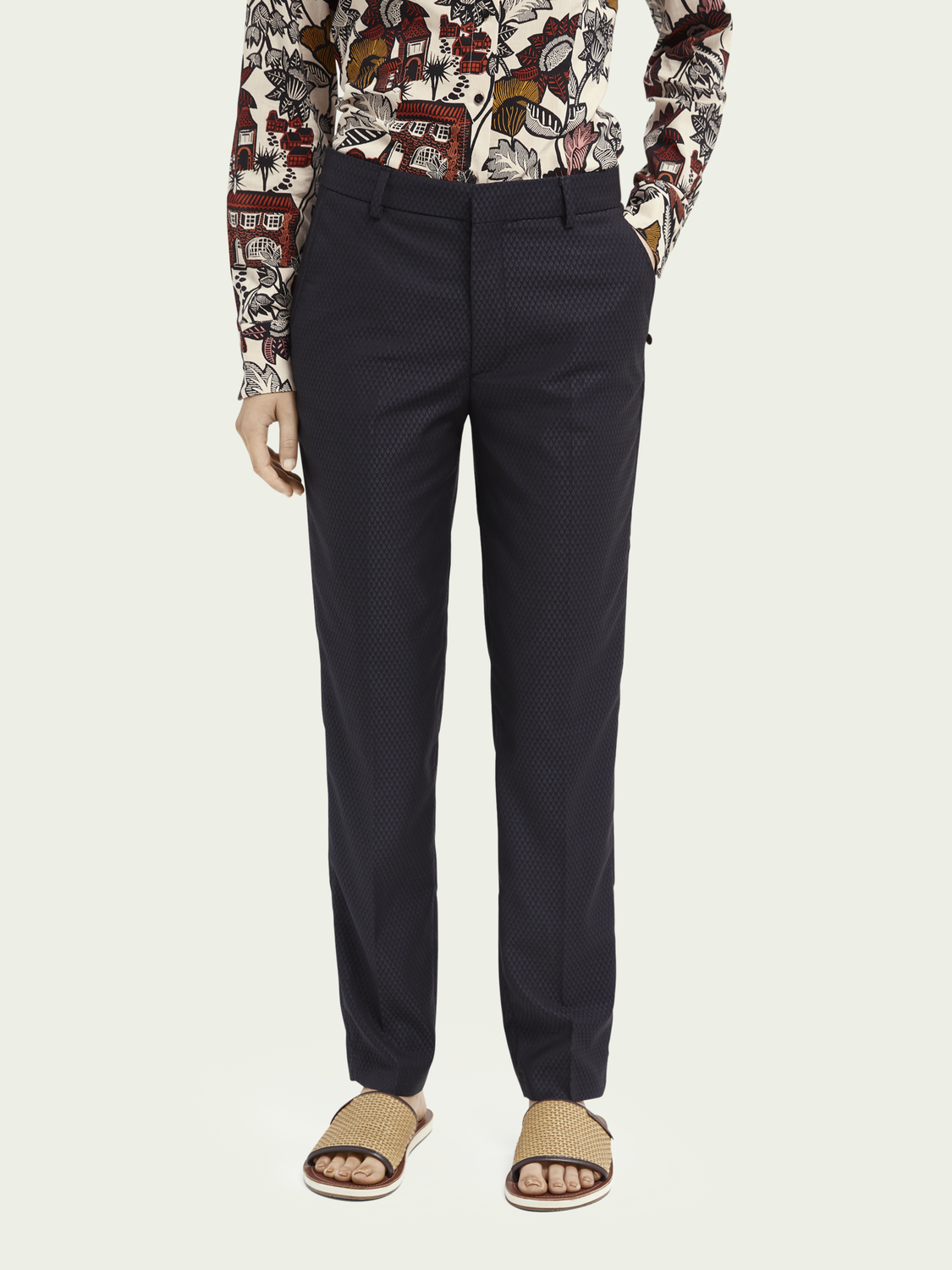 Women Lowry tailored slim-fit trousers - Night