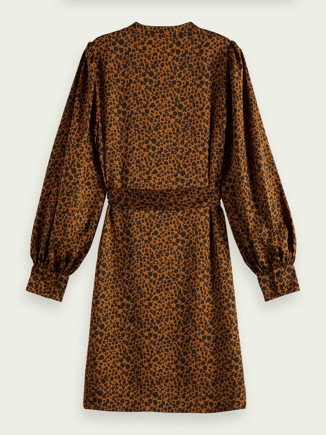 Women Printed belted dress
