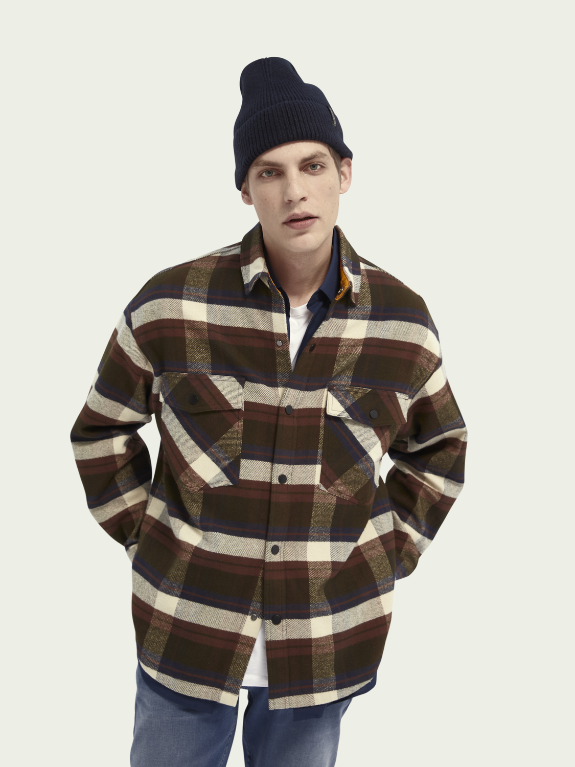 Men Brushed cotton flannel shirt